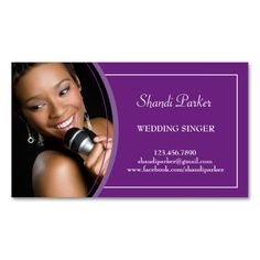 Music Wedding Singer Photo Business Card. This great business card design is available for customization. All text style, colors, sizes can be modified to fit your needs. Just click the image to learn more!