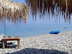 Longbeach Kokkari on the island Samos in Greece.