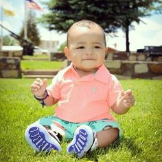 This baby be swaggin