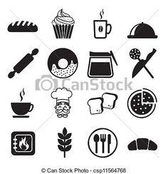 bakery icons - csp11564768