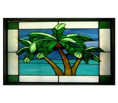 3 Palms in Stained Glass Poster at CafePress