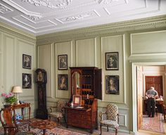 The Green Room in the 18th century Mompesson House in Salisbury, Wiltshire | Flickr - Photo Sharing!