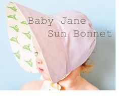 bonnet with drawstring circle in back, one piece bonnet, flare brim