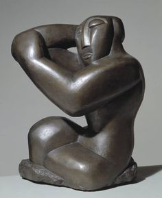 Henri Gaudier-Brzeska, 'Seated Woman' 1914, posthumous cast