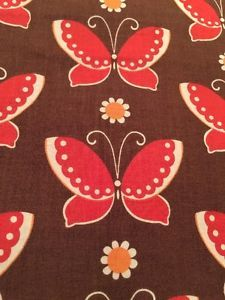 Freebird By MoMo for Moda Fabrics Butterfly Print By The 1/2 Yd Brown/red orange  | eBay
