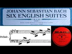 JS Bach / H Walcha, 1964: English Suite No. 1 in A Major, BWV 806
