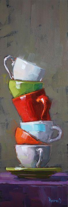 Cathleen Rehfeld • Large Original Oil Paintings: Balance Series :: Stack #OilPaintingFood