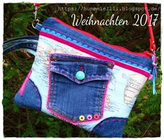 Kleine Weltenbummlertasche... #nähen #jeanstasche #sewing