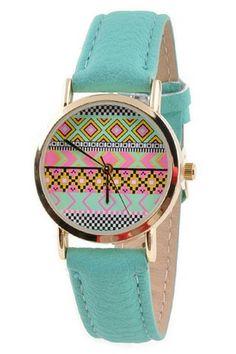 Aztec Face Watch - Mint | .H.C.B.