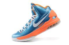 fe6ef218ef4a Retail Nike Zoom KD V 5 Prime Blue Vivid Orange White Men s Basketball  Shoes 554988 416