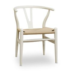 White Wishbone Y Chair at the Foundary