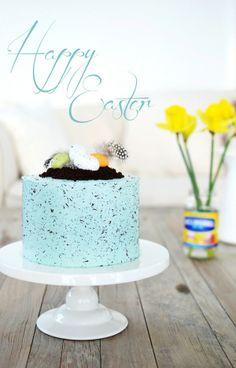 Louise´s Spis: Speckled Easter Chocolate Cake (Påskens Chokladtårta)