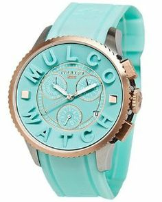 Mulco Post MW3-10302-073 Light Blue Silicone Strap Watch MULCO. $229.95. Quartz movement. Light blue silicone strap. Light blue chronograph dial with date window. Water resistant to 50 meters. Stainless steel case. Save 22%!