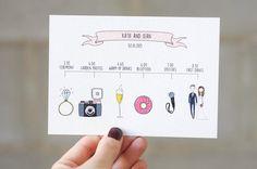 QUIRKY TIMELINE with custom wedding portrait wedding day
