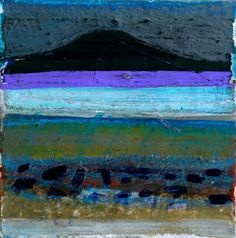 Barbara Rae - Tide at Falmore Pastel Landscape, Landscape Artwork, Abstract Landscape Painting, Seascape Paintings, Contemporary Landscape, Barbara Rae, Glasgow School Of Art, Collage Art Mixed Media, Art Uk