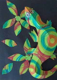 2013: Dream Painters ~ Student Art Gallery: 3D Chameleons