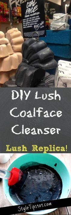 This DIY Lush Coalface Cleanser is an almost exact replica of the real thing, but it will cost you SO much less! Diy Lush, Diy Spa, Diy Beauty Makeup, Make Beauty, Beauty Spa, Natural Beauty, Lush Bath Bombs, Diy Scrub, Diy Blog