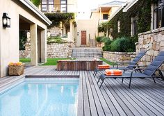courtyard pool with timber deck