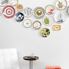 How To: Hang Plates on a Wall: If you read my slideshow on how to decorate on the cheap with pretty plates, you might be feeling inspired to hang some in your own home.