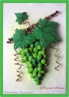 quilling  green grapes