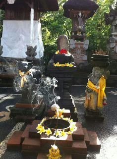 Beautiful photo of small temple decorated for Galungan and Kuningan