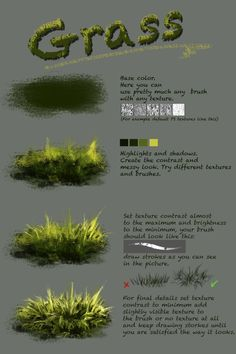 Difference between texture and plain brushnthartyfievi deviantart com ar More tutorials are coming soon grass trees water ice Digital Art Tutorial, Digital Painting Tutorials, Art Tutorials, Acrylic Painting Tutorials, Concept Art Tutorial, Acrylic Painting Inspiration, Drawing Tutorials, Deviantart, Painting & Drawing