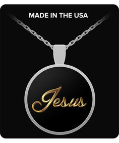 Jesus, Golden Typography - Necklace