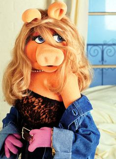 """Start out perfect and don't change a thing. Accentuate your best features by pointing to them. Conceal your flaws by sucker punching anyone who has the audacity to mention them in the face.""   -Miss Piggy"