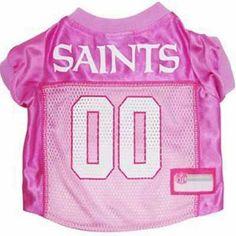 New Orleans Saints Pink Pet Jersey