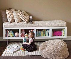 子供部屋のおもちゃ収納だけじゃない!カラーボックスで作るベンチ7選♡ | CRASIA(クラシア)