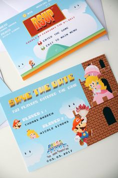 Super Mario mariage geek jeux videos Mario and Peach Save The
