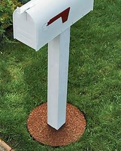 Rubber Mulch Mailbox Ring