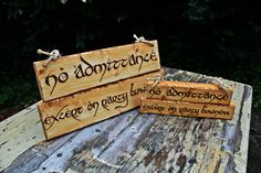 Lord of the Rings Wedding Decor Package Location Signs Room