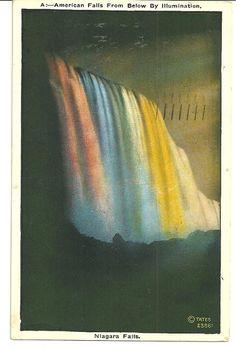 1934 VINTAGE POSTCARD Niagara Falls New York by turnabout01, $5.00