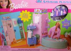 Barbie All Around Home Bathroom Playset by Mattel Barbie Bathroom, Barbie Room, Barbie Doll Set, Barbie Sets, Barbie Doll House, Vintage Barbie, Vintage Toys, Barbie 2000, Barbie Playsets