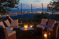 """A night """"sailing"""" to Arezzo, Pomaio's garden view"""