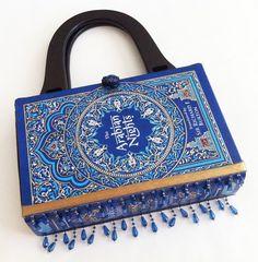 Arabian Nights Book Purse with Embellished Ribbon. $45.00, via Etsy.