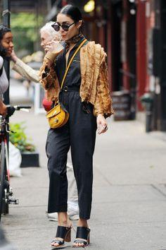 Vanessa Hudgens leaving her apartment in NYC (June 18)