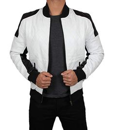 The weather is getting warmer, but the nights can still be a little chilly. Which means that the conditions are perfect for a great leather jacket. Black Leather Bomber Jacket, Bomber Coat, White Leather, Leather Men, Sherlock Coat, Grey Trench Coat, Best Leather Jackets, White Suits, Grey Shirt