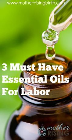 Thinking of bringing essential oils to your birth? Here are the three essential oils for labor that should be at every birth.