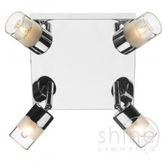Artemis ART8550 4 Light Spot Plate, Dar Lighting 4 light bathroom Spot light plate.  Finished in polished chrome.  This modern spotlight features clear glass shades. Each light is multi angle and you can adjust to where you need it.   Double Insulated (Class II)  4 x 25w G9 Mains Voltage Halogen bulbs (Included)  Height: 14.5mm  Width: 19.00mm  Depth: 19.00mm  IP rated: IP44  £68.50