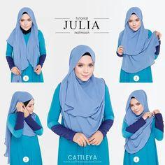 Halfmoon tutorial Stylish Hijab, Modern Hijab, Hijab Chic, Cara Hijab, Hijab Niqab, Abaya Fashion, Muslim Fashion, Women's Fashion, Hijabs