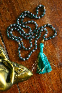 Blue Labradorite 108 Mala Beads Yoga Jewelry by BijaMalas on Etsy