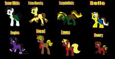 Once Upon a time mlp I created them I want full credit for all of these