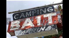 Bait Camping Sign neon vintage