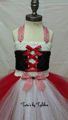 Little Red Riding Hood inspiré Costume Tutu de par TutusbyTyLibra Costume Halloween, Costumes Avec Tutu, Corset, St Pauli, Robes Tutu, Red Riding Hood Costume, Tulle Dress, Little Red, Birthday Party Themes