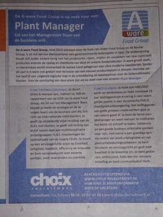 Mooi werk bij A-Ware via Choix Recruitment 13-9-2014