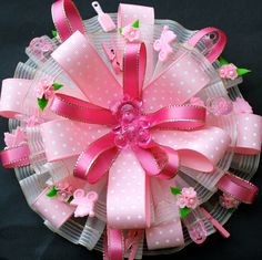 Pink Baby Shower Corsage / For Mom to be   Baby Girl  (1 piece). $22.00, via Etsy.