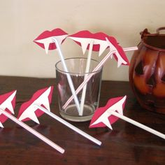 Make these: Vampire Fang Straws