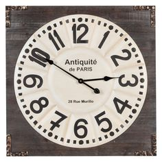 Have to have it. Talbert Wall Clock - 26.75 in. sq. - $138 @hayneedle